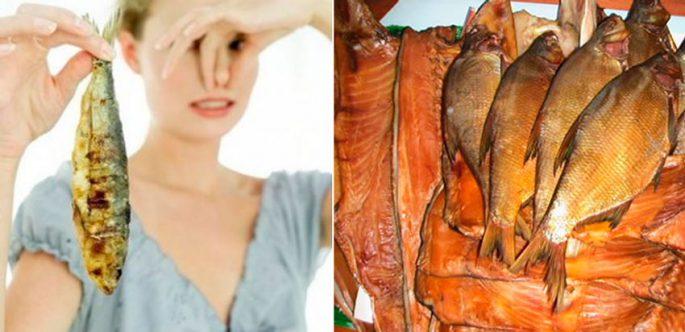 испорченная копченая рыба