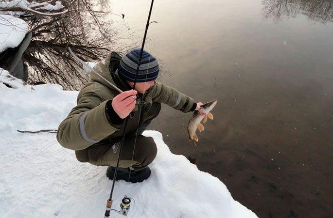 Ловля щуки зимой по открытой воде