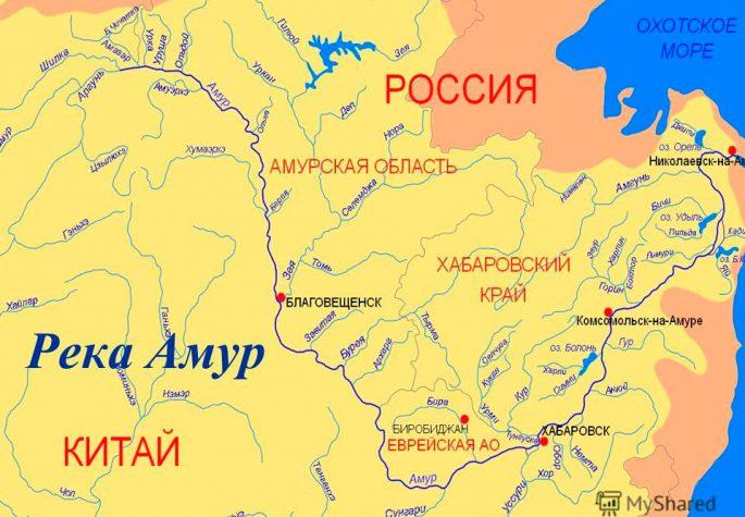 река амур карта