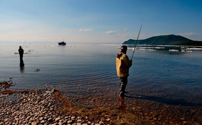 Рыбалка на Байкале весной