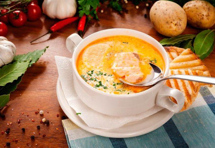 Суп со сливками по-фински